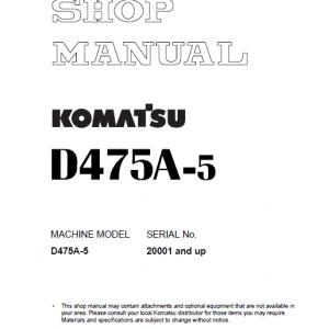 Komatsu D475A-5 Dozer Service Manual
