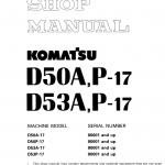 Komatsu D50A-17, D50P-17, D53A-17, D53P-17 Dozer Service Manual