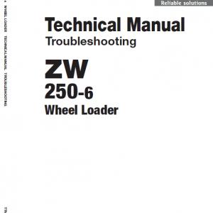 Hitachi Zw250-6 Wheel Loader Service Manual