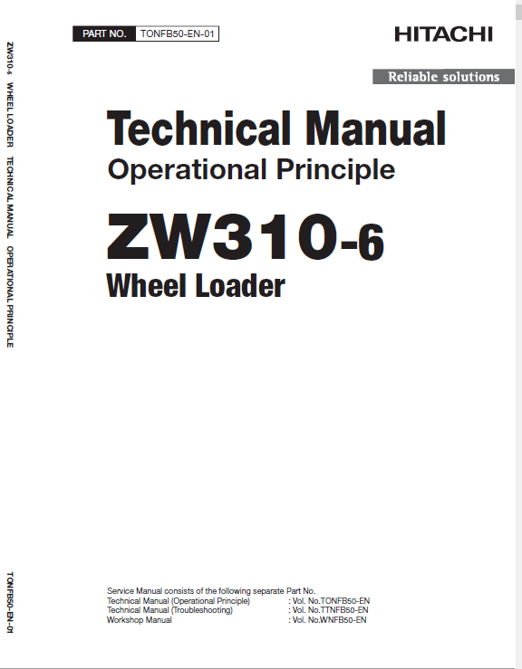 Hitachi Zw310-6 Wheel Loader Service Manual