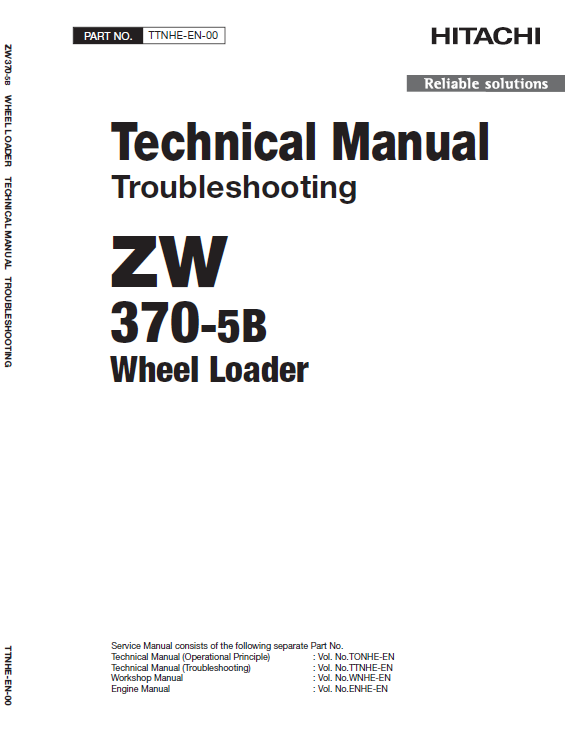 Hitachi Zw370-5b Wheel Loader Service Manual