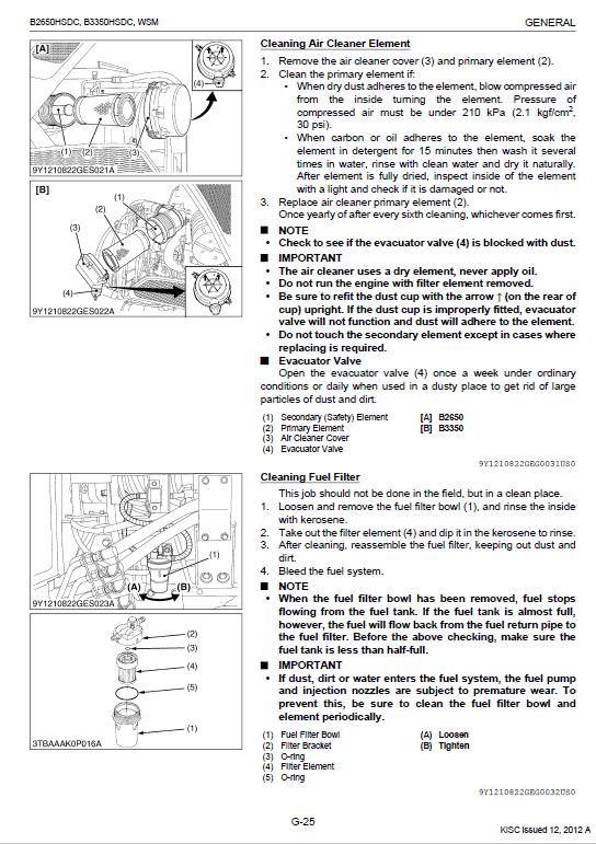 Kubota B2650hsdc, B3350hsdc Workshop Service Manual