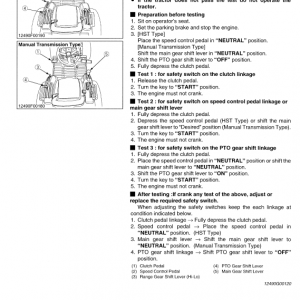 Kubota B7400, B7500 Tractor Workshop Service Manual