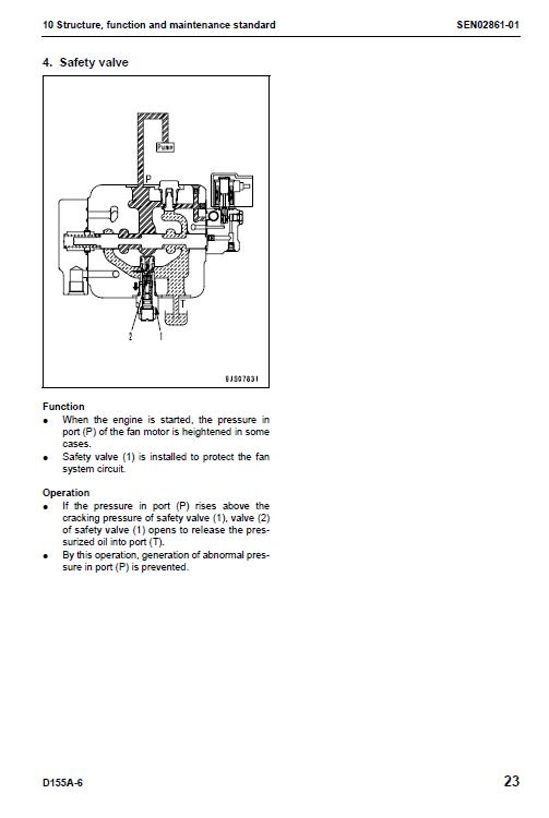 Komatsu D155a-6 Dozer Service Manual