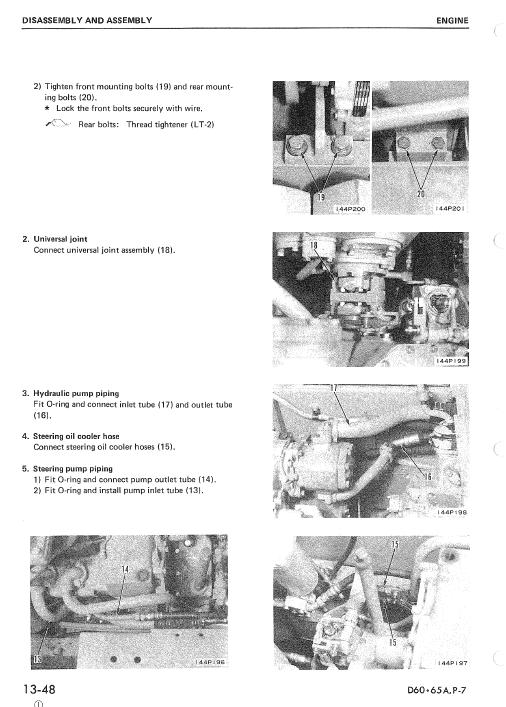 Komatsu D60a-7, D60e-7, D60p-7, D60pl-7 Dozer Service Manual