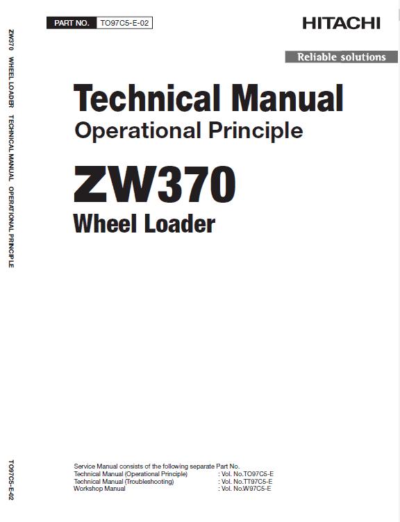 Hitachi Zw370, Zw370-g Wheel Loader Service Manual
