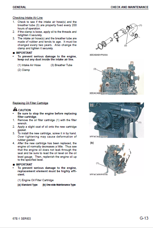 Komatsu 67e-1 Series 3d67e-1a Engine Manual