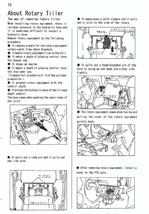Kubota B1600, B1600dt Tractor Workshop Service Manual