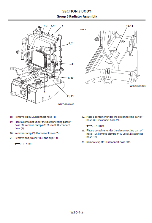 Hitachi Zw250-5b Wheel Loader Service Manual