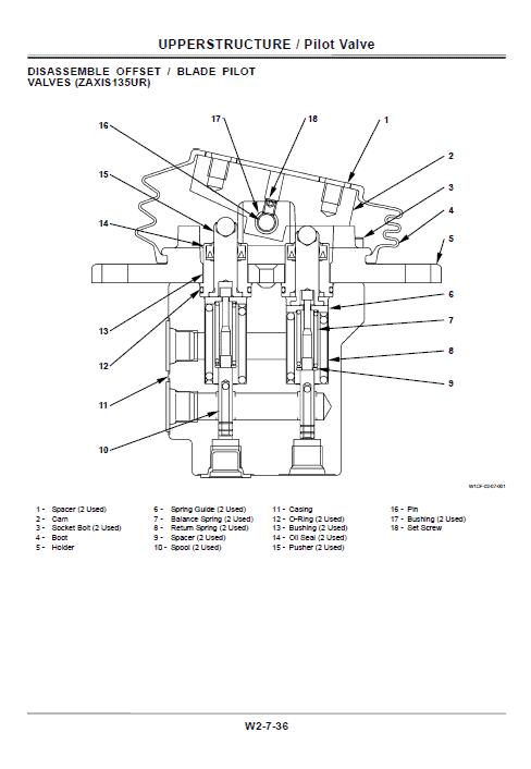 Hitachi Zx125us, Zx135us, Zx135ur Excavator Service Manual