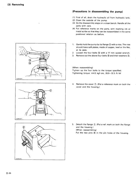 Kubota Kh36, Kh41, Kh51, Kh61 Excavator Workshop Manual