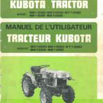 Kubota B5100d, B5100e, B6100d, B6100e, B7100d Tractor Workshop Manual