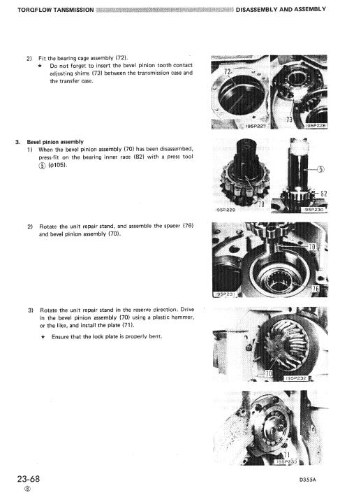 Komatsu D355a-3 Dozer Service Manual