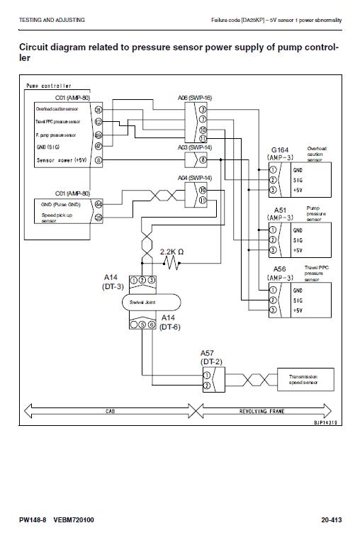 Komatsu Pw148-8 Excavator Service Manual