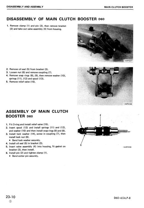 Komatsu D60a-8, D60e-8, D60p-8, D60pl-8 Dozer Service Manual