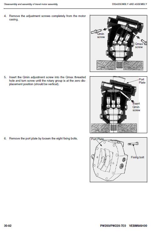 Komatsu Pw200-7 And Pw220-7 Excavator Service Manual