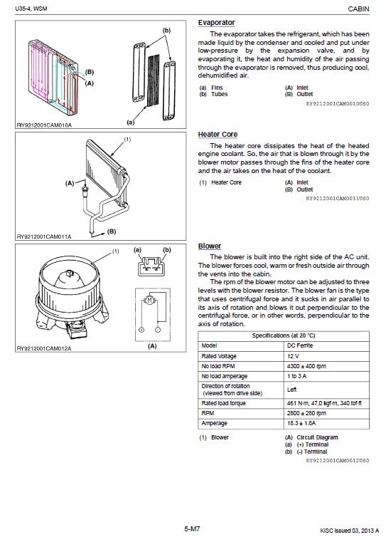 Kubota U35-4 Excavator Workshop Service Manual
