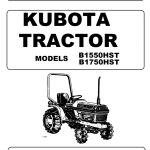 Kubota B1550, B1750, B2150 Tractor Workshop Service Manual