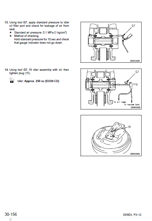 Komatsu D65ex-12, D65px-12, D65e-12, D65p-12 Dozer Manual