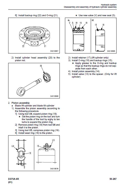 Komatsu D375a-6, D375a-6r Dozer Service Manual