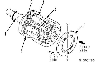 Komatsu D155A-6 Dozer hydraulic motor
