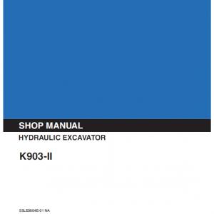 Kobelco K903 II Excavator Service Manual