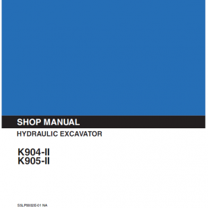 Kobelco K904 and II K905 II Excavator Service Manual