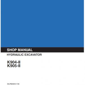 Kobelco K904-ii And K905-ii Excavator Service Manual