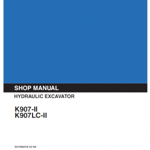 Kobelco K907 II and K907LC II Excavator Service Manual