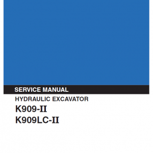 Kobelco K909 II and K909LC II Excavator Service Manual
