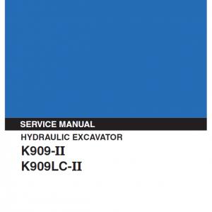 Kobelco K909-ii And K909lc-ii Excavator Service Manual