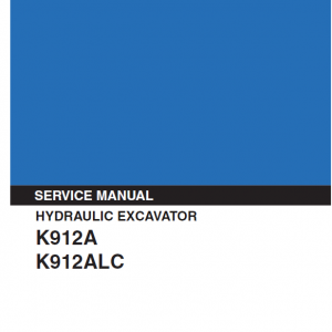 Kobelco K912A and K912ALC Excavator Service Manual