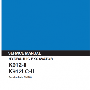 Kobelco K912-II and K912LC-II Excavator Service Manual