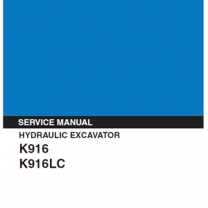 Kobelco K916-II and K916LC-II Excavator Service Manual