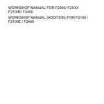 Kubota F2000, F2100, F2400 Front Mower Workshop Manual
