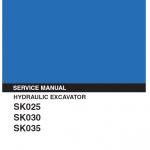 Kobelco SK025, SK030 and SK035 Excavator Service Manual