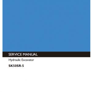 Kobelco SK50SR-5 Excavator Service Manual