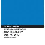 Kobelco SK115DZLC-IV and SK120LC-IV Excavator Service Manual