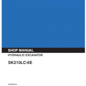 Kobelco SK210LC-6E Excavator Service Manual