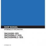 Kobelco Sk253se-1es, Sk235srlc-1es Excavator Service Manual