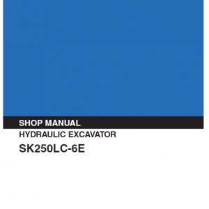 Kobelco SK250LC-6E Excavator Service Manual