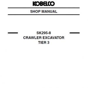 Kobelco SK295-8 Tier 3 Excavator Service Manual