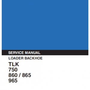 Kobelco TLK750, TLK860, TLK865, TLK965 Backhoe Service Manual