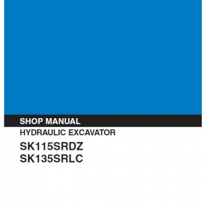 Kobelco SK115SRDZ and SK135SRLC Excavator Service Manual