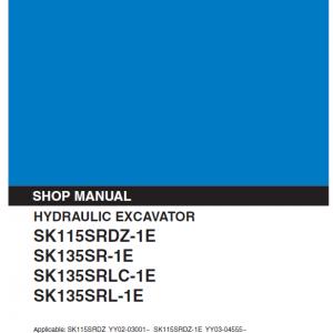 Kobelco SK115SRDZ-1E, SK135SR-1E, SK135SRLC-1E Excavator Manual