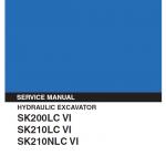 Kobelco Sk200lc-6, Sk210lc-6, Sk210nlc-6 Excavator Service Manual