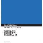 Kobelco Sk230lc-6, Sk250lc-6, Sk250nlc-6 Excavator Service Manual