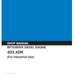 Mitsubishi 4D31, 4D32, 4DR5 Engine Workshop Service Manual