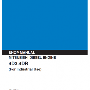 Mitsubishi 4D31, 4D32, 4DR5 Engine Workshop Service Manual