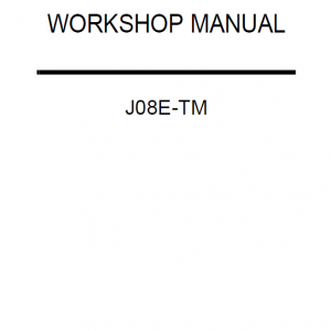 Hino J08E-TM Engine Workshop Service Manual